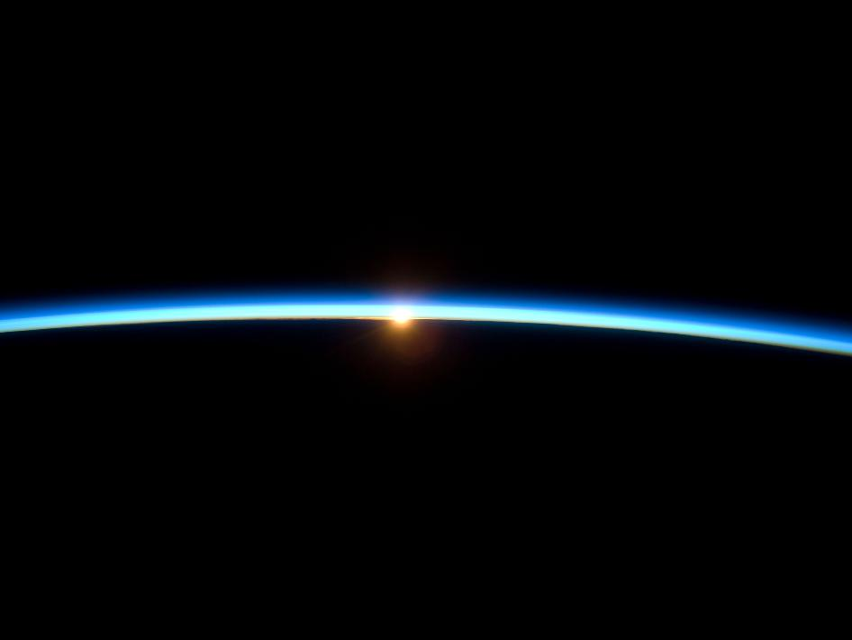 atmosphere from ISS