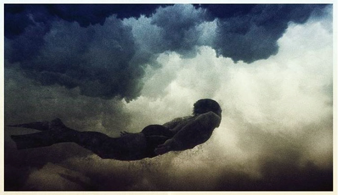 sky clouds swimmer