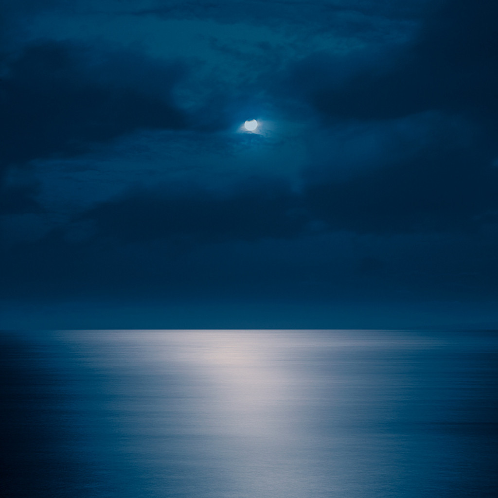 moon light cloud sea ocean
