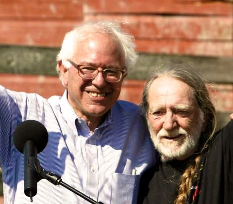 bernie sanders willie nelson - Version 2