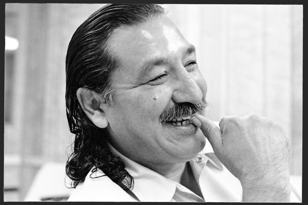 Leonard Peltier at Leavenworth. 6/92 ©Jeffry Scott