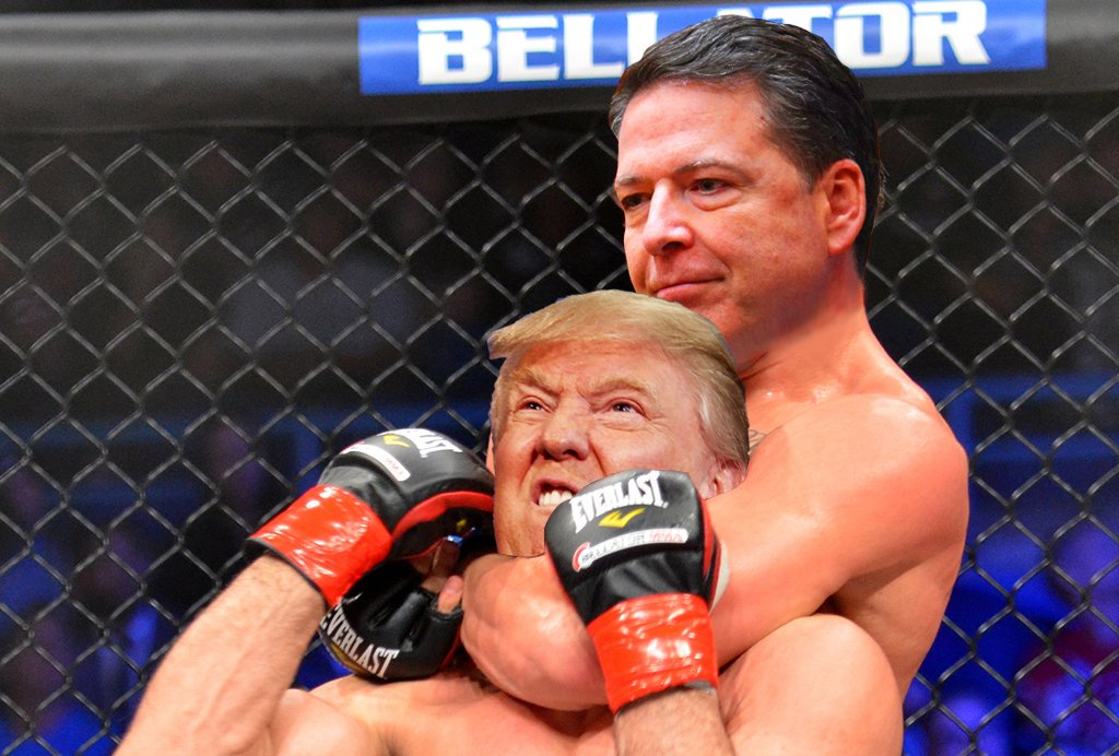 comey chokes out trump